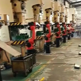 冲压六关节机器人现场视频
