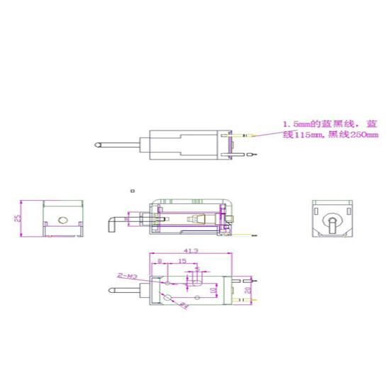 汽車換擋器電磁鐵 工程圖紙.jpg