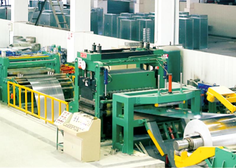 镀锌板铝板矫平横切生产线