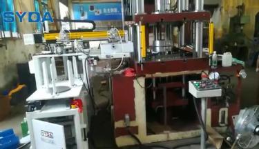 双垛料上料一体机之油压机自动化