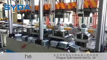 单机多工位油压机拉伸自动化