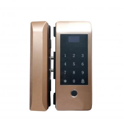 指纹密码玻璃门锁 F19-D1